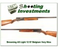 [SOLD] Browning A5 Light 12 57 Belgium Solid Rib Exc Cond