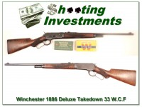 [SOLD] Winchester 1886 Deluxe Takedown 33 W.C.F