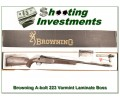 [SOLD] Browning A-bolt Stainless Laminated Varmint 223 NIB BOSS