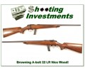 Browning A-bolt 22 LR extra nice wood!