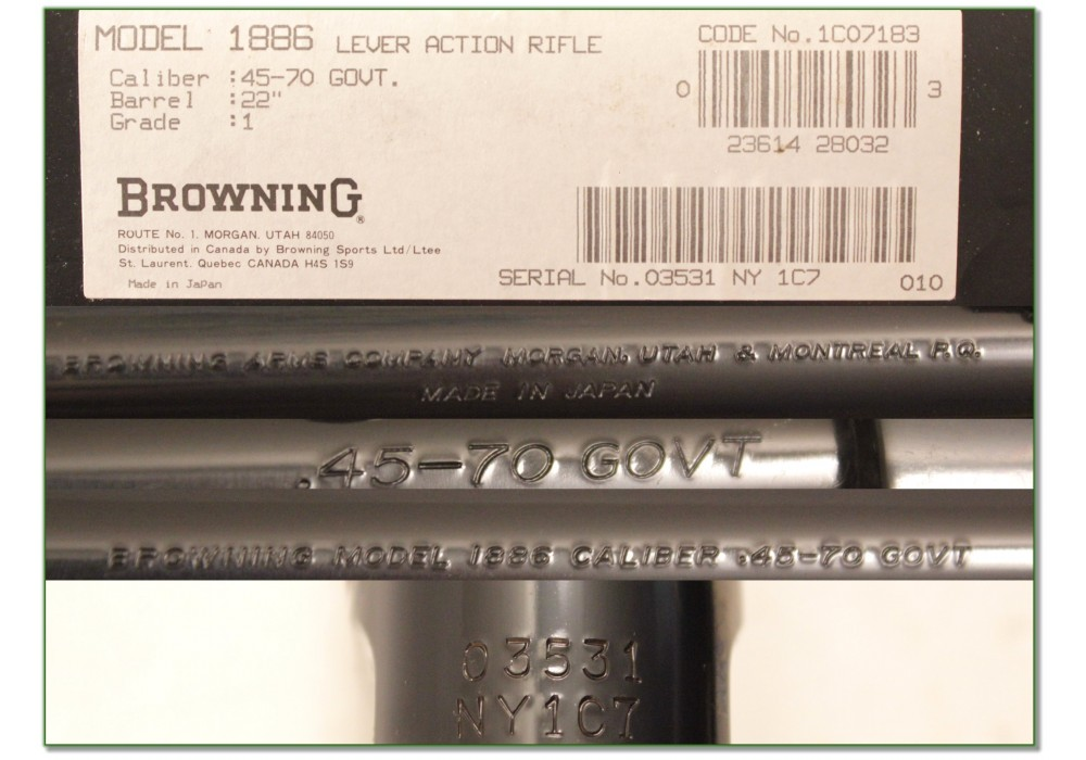 SOLD] Browning 1886 45-70 NIB and perfect!