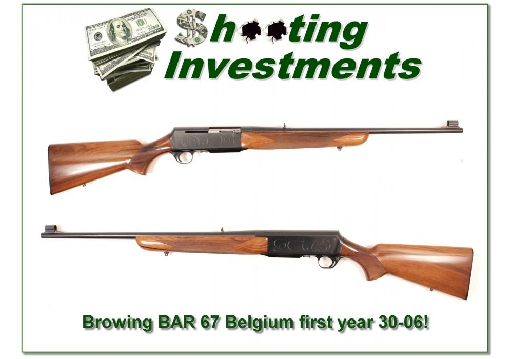sold browning bar grade ii 67 belgium 30 06 exc cond