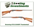 [SOLD] Browning 22 SHORT Auto ATD Thumbwheel Exc!