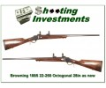 Browning 1885 22-250 28in Octagonal barrel as new