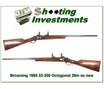 [SOLD] Browning 1885 22-250 28in Octagonal barrel as new