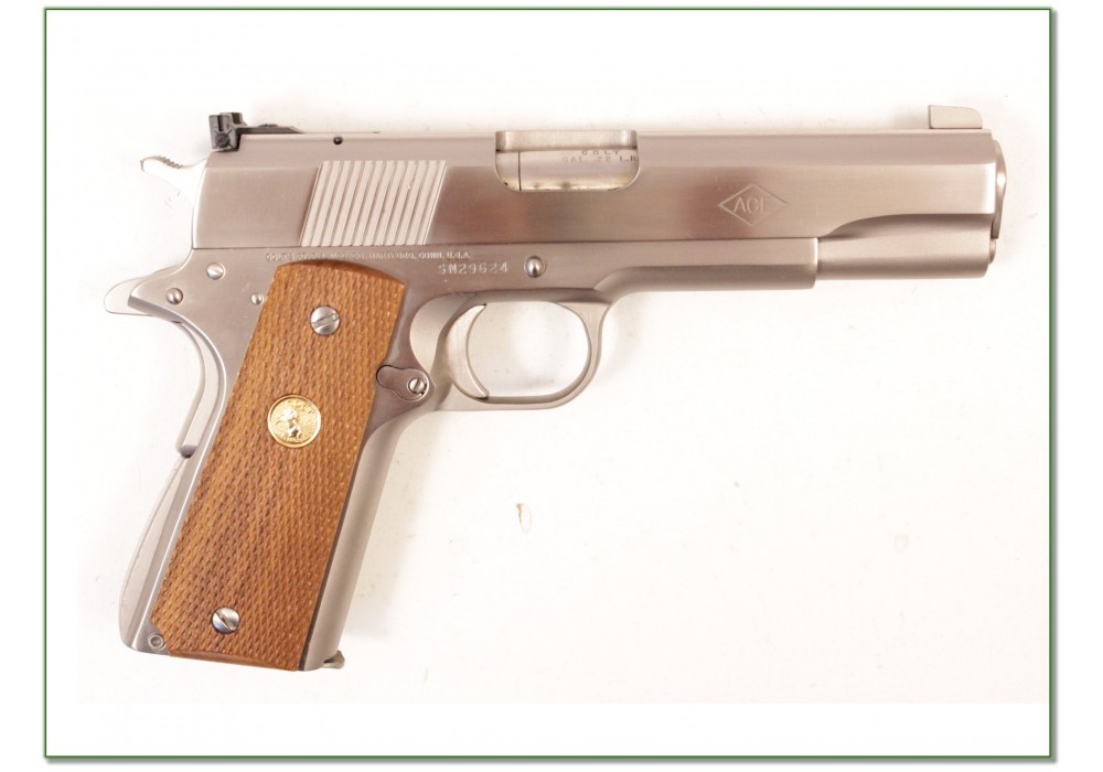 SOLD] Colt 1911 ACE 22 LR Custom Shop Nickel RARE!