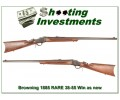 Browning 1885 rare .38-55 Win unfired XX Wood!
