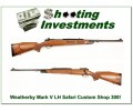 Weatherby Mark V Safari Custom Shop ***** LEFT HAND ***** 300!