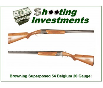 Browning Superposed 20 Gauge 54 Belgium!