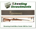 Browning A-Bolt II Hard to find MICRO Hunter 308 Win