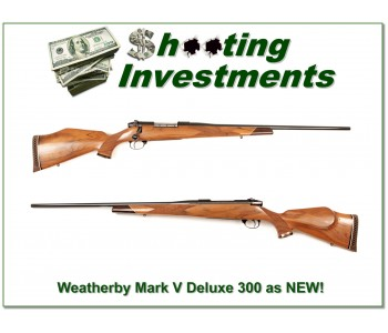 Weatherby Mark V Deluxe near new 300 Wthy Mag!